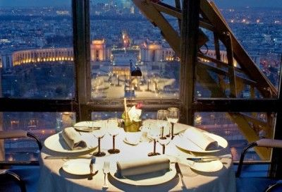 Inside Eiffel Tower Restaurant Paris Jules Verne Gastronomic