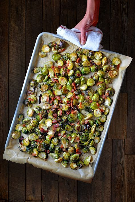 Whole30 Day 21 Roasted Brussels Sprouts Bacon Roasted