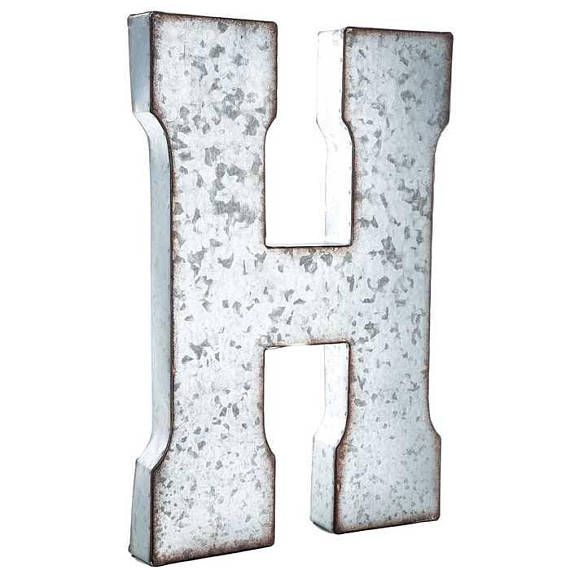 Large Silver Metal Letters Galvanized Metal Letter Large Metal Letters 7 Or 20 Inch  Home