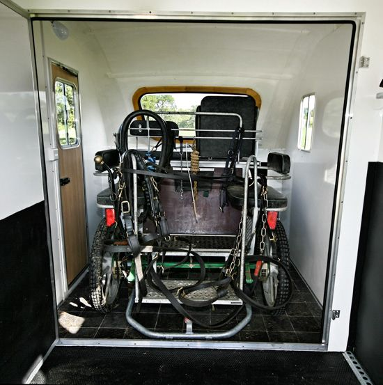 Four Wheel Carriage In The Living Quarters Dressing Room Horse Trailers Truck Mechanic Horse Box