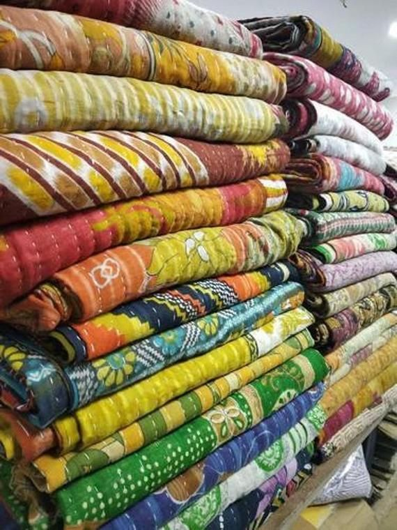 Wholesale Lot  of Bohemian Kantha Quilts Handmade