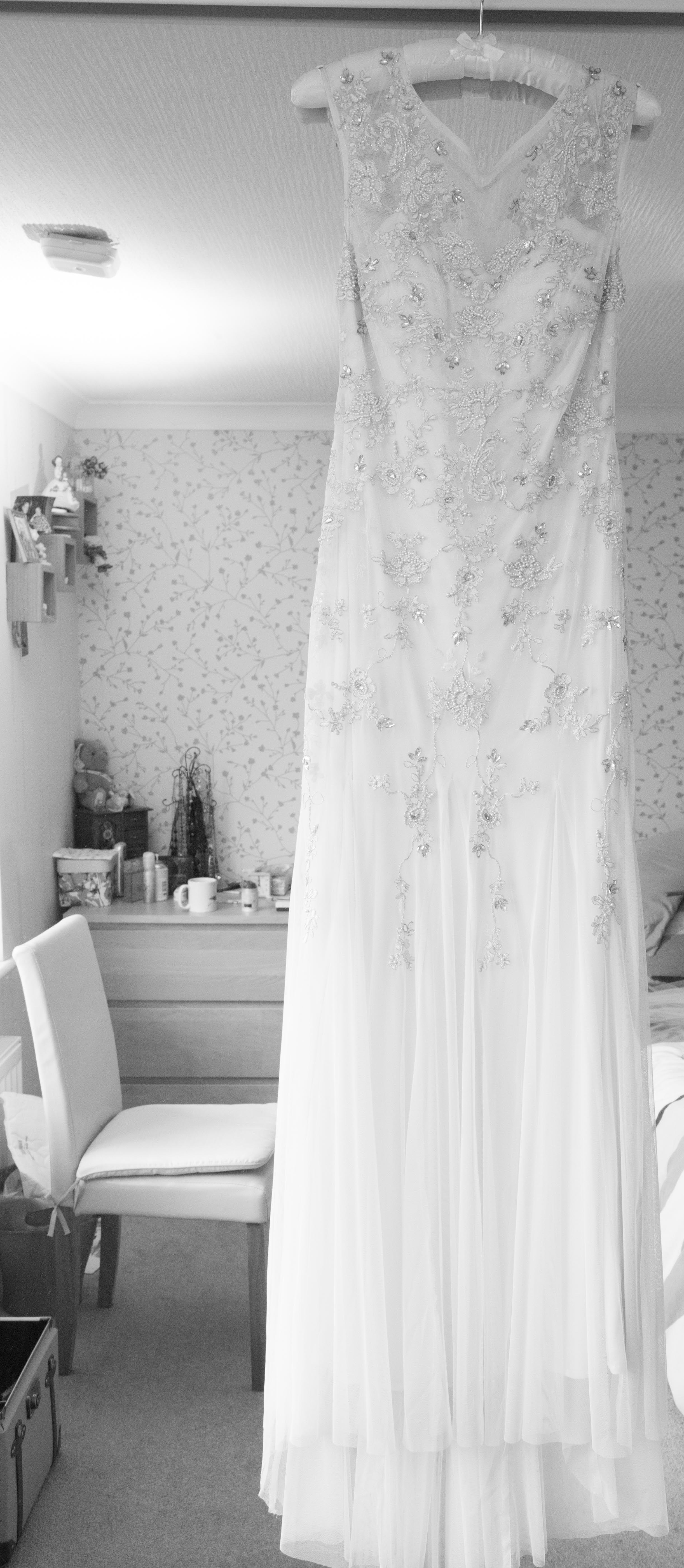 Amy's wedding dress  Adam u Amyus Maidstone Wedding at Oakwood House  Lawless Rose