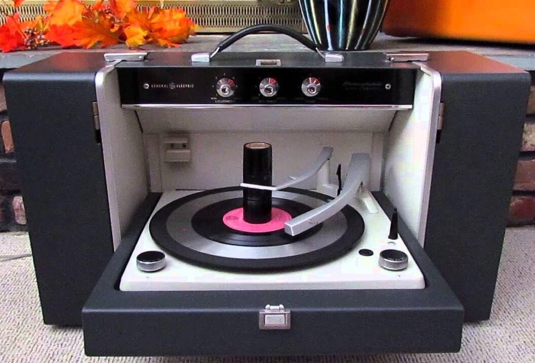 Flip Down Portable Record Player