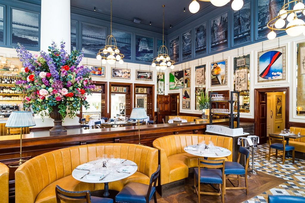 The Ivy Clifton Brasserie Opens At The Heart Of Clifton Village Bristol Cafe Interior Design Cafe Interior Private Dining Room