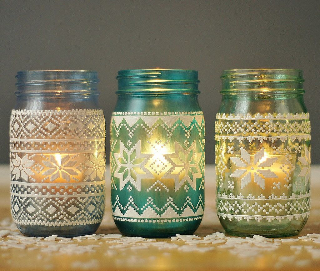 Mason Jar Candle Holders 14 Creative Ways To Decorate With Mason Jars For The Holidays