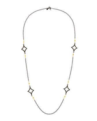 Armenta Long Open Cravelli Station Necklace, 36
