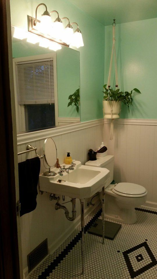 Before & After Colleen's Modern Vintage Bathroom — The Big Reveal Alluring Bathroom Makeover Contest 2018