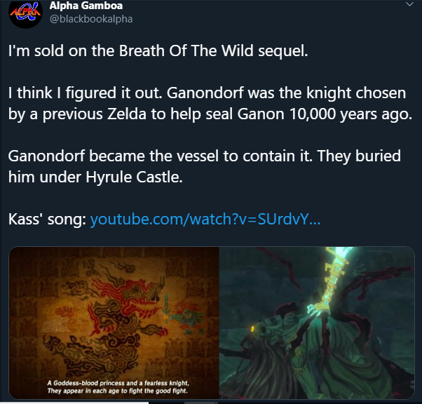 Saw This On Twitter Where Someone Says They Suspect Ganondorf Was The Knight Chosen By A Previous Zelda Legend Of Zelda Memes Calamity Ganon Breath Of The Wild