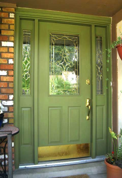 Front Door Color With Black Glaze And Black Shutters And
