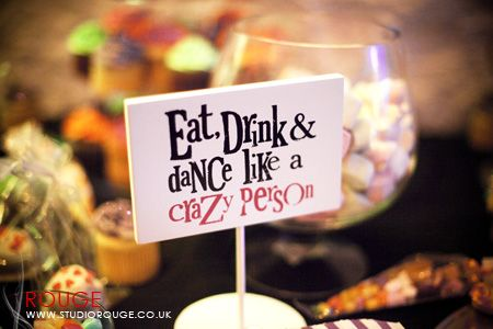 I want these in the middle of every table so people know ...