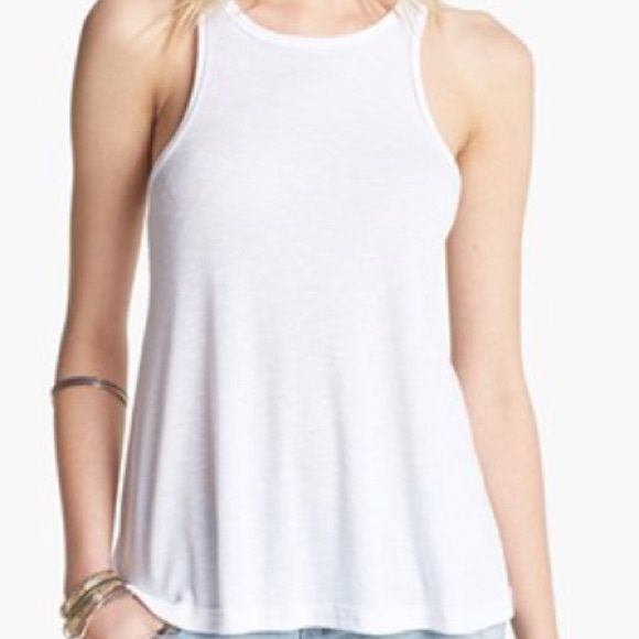 NWT FREE PEOPLE Long Beach Tank Brand New w/tag! Free People XLong Long Beach Tank in White! Oversized, loose, flows fit! Free People Tops Tank Tops