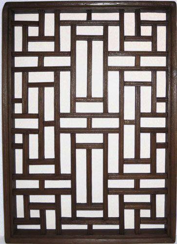 22 Inch High Antique Wooden Window Panel