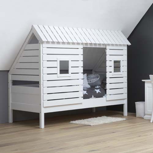 spielbett kinderbett roofus für schräge wände/dachschrägen, weiss ... - Wandgestaltung Schrge Wnde Kinderzimmer