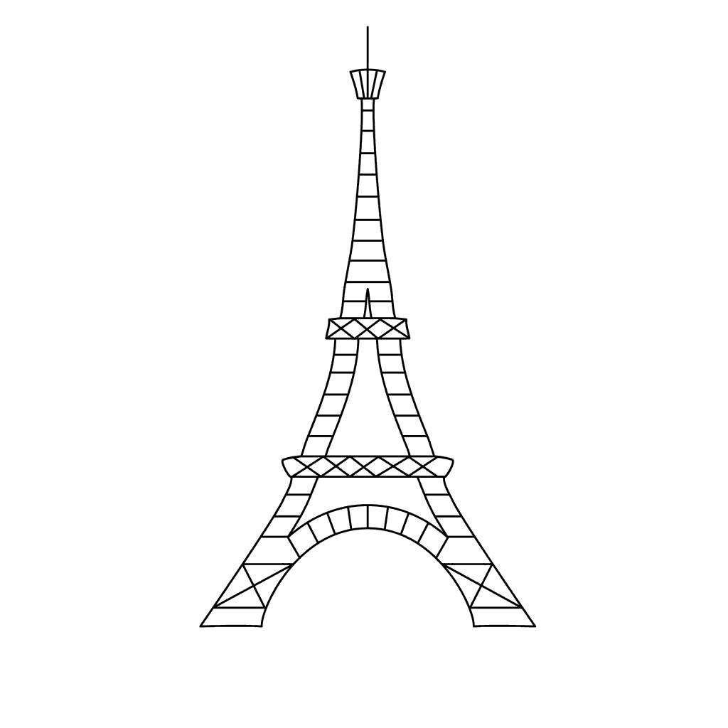 22+ Amazing Image of Eiffel Tower Coloring Page - davemelillo.com
