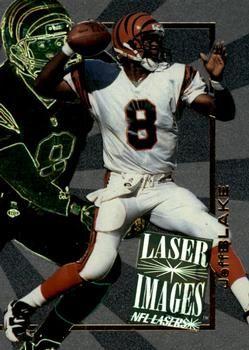 1996 Score Board NFL Lasers - Laser Images #I5 Jeff Blake Front