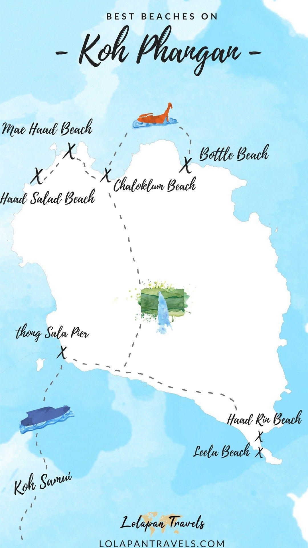 Koh Phangan Beaches - Best Beaches On Koh Phangan  A -4163