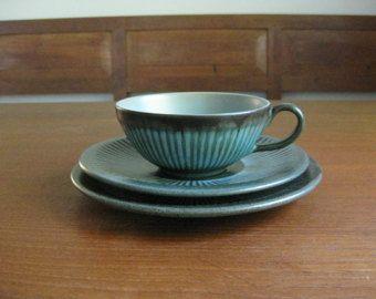 Løvemose Denmark - tea trio - cup / saucer / plate - Graasten - Danish Mid Century Pottery