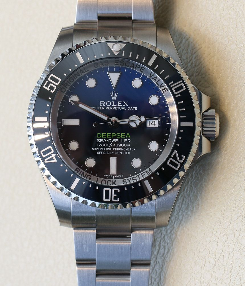 60d484429b4 Rolex Deepsea Sea-Dweller D-Blue Watch For James Cameron Hands-On ...