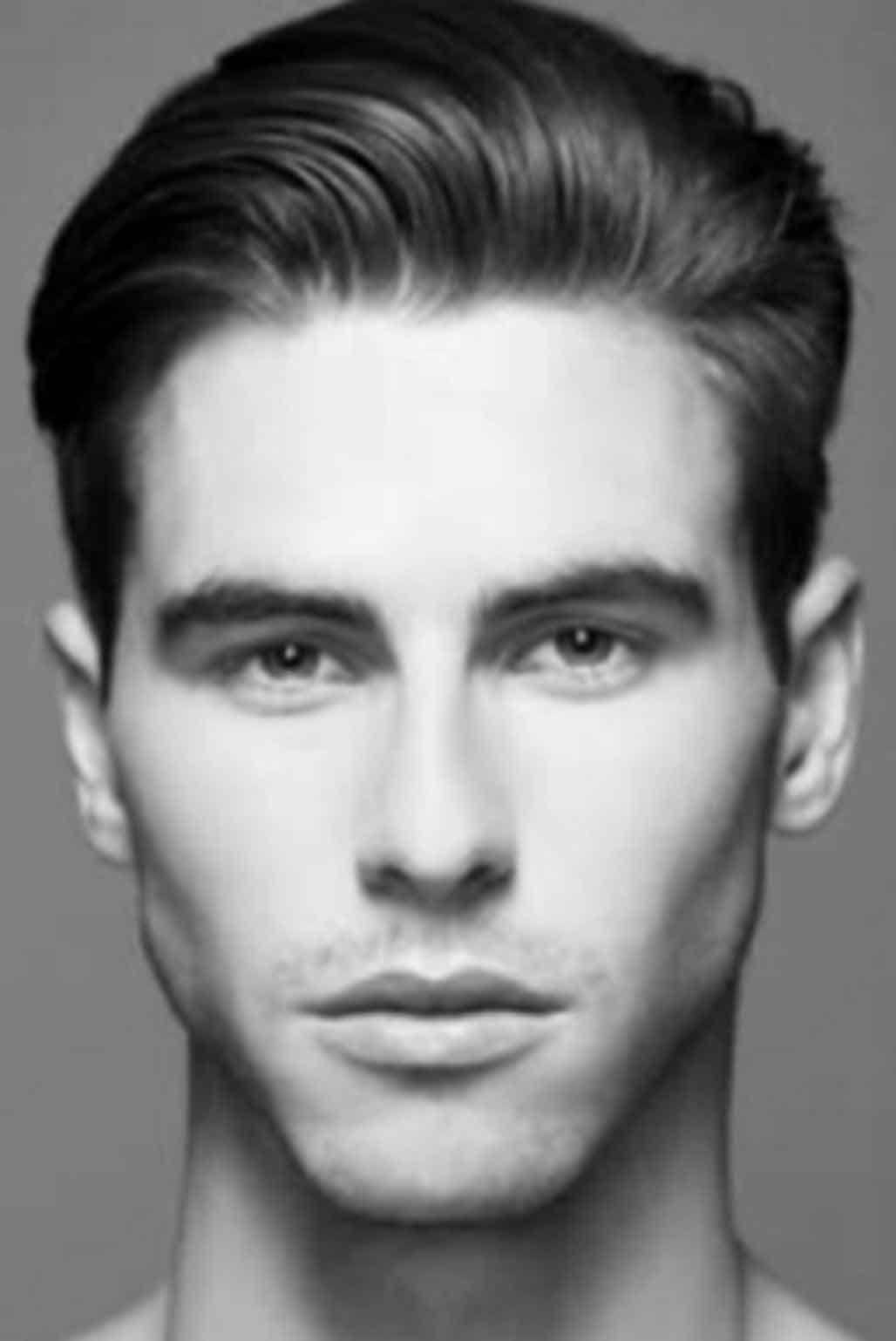 diamond face shape: narrow forehead and chin, extreme width
