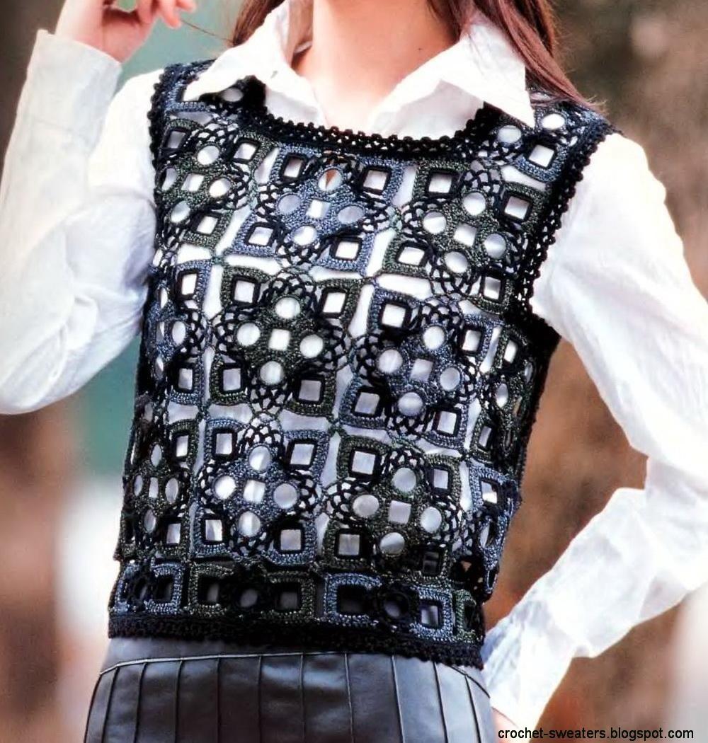 Crochet Sweater: women\'s crochet vest - Gorgeous vest using high ...
