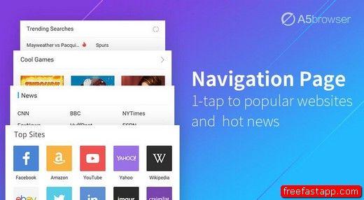 تحميل المتصفح السريع والخفيف A5 Browser اندرويد Youtube