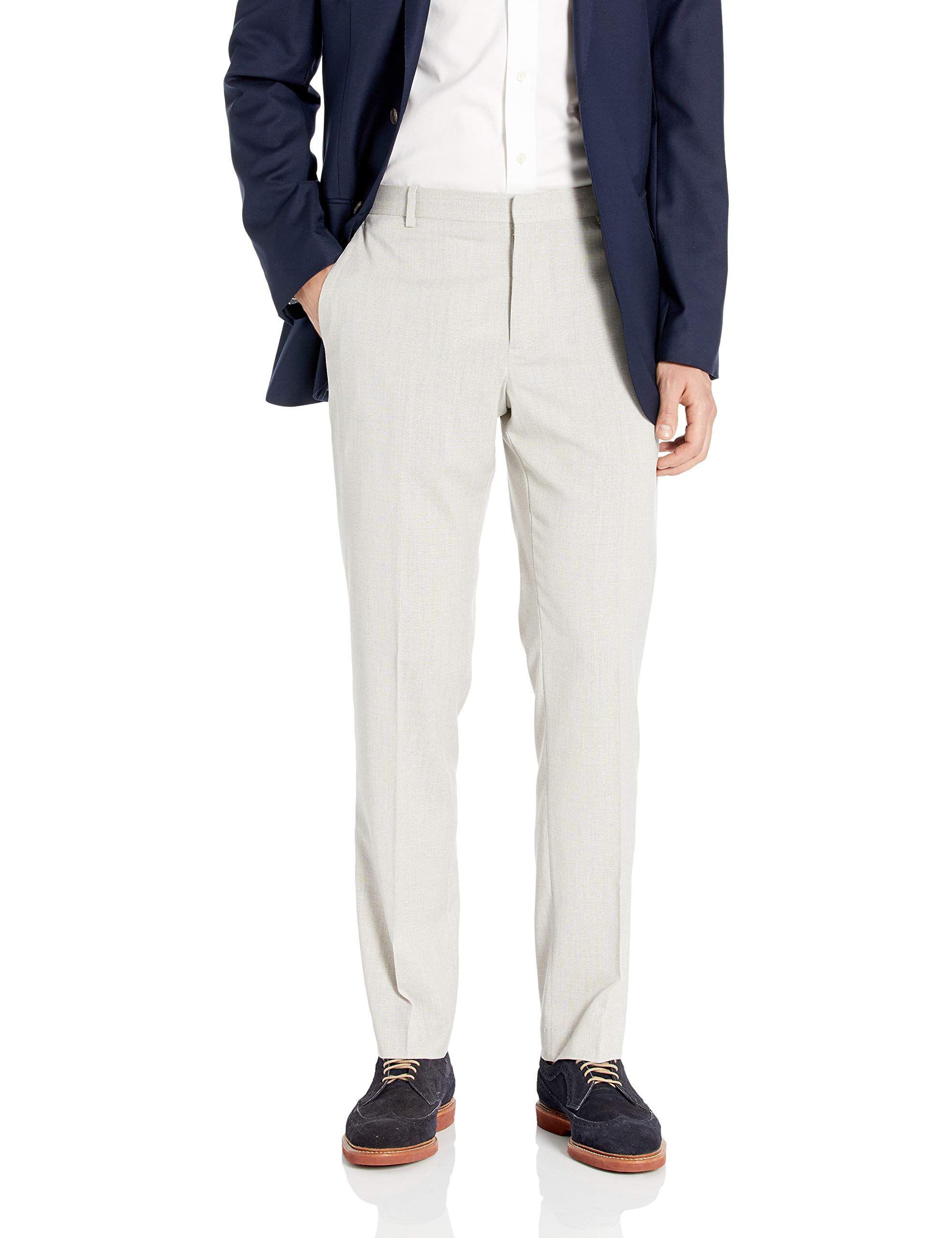 Perry Ellis Men S Slim Fit Stretch End Dress Pant En 2020 Pantalones Para Hombre