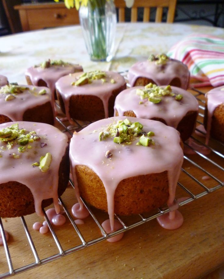 Photo of Pistachio & Strawberry Friands