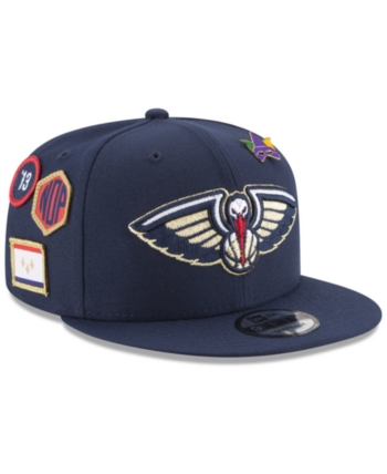 new styles e8293 9a0a1 New Era Boys  New Orleans Pelicans On-Court Collection 9FIFTY Snapback Cap  - Blue Adjustable