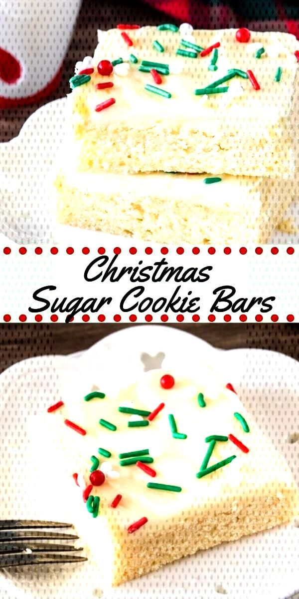 Save time this holiday season with these easy Christmas sugar cookie bars. They are ... Save time t