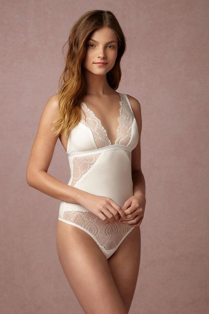 sexy yet comfortable | Laramie Lace Bodysuit from BHLDN