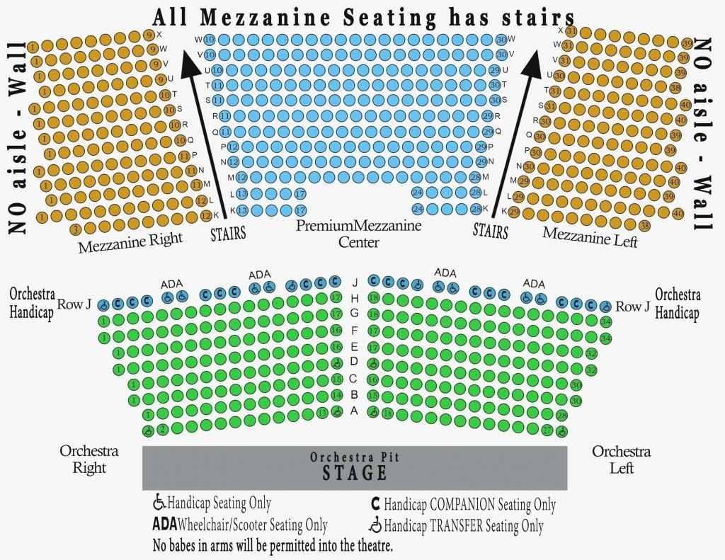 Koch Theater Seating Chart Di 2020