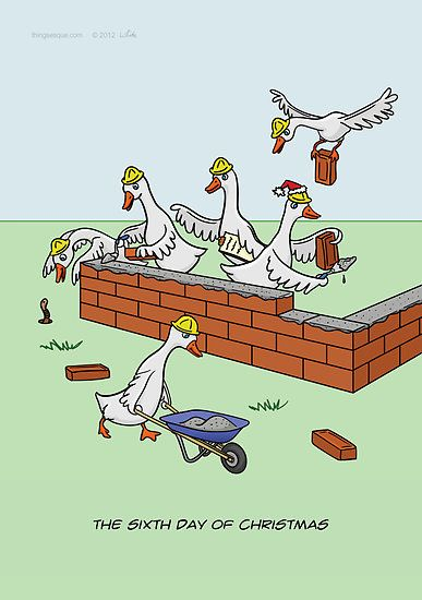 Six Geese A Laying by Thingseque | Christmas cartoons
