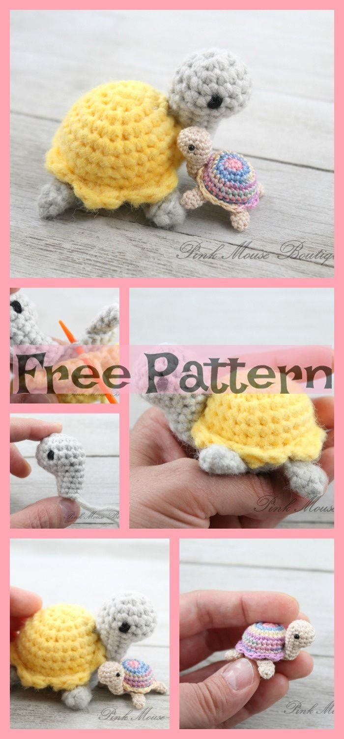 Crochet Little Miss Turtle - Free Pattern #crochetturtles