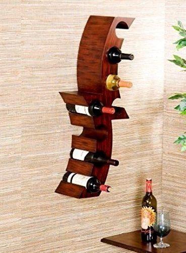 Floating Bottle Rack Wall Mount Bar Attractive Wine Holder Storage ...
