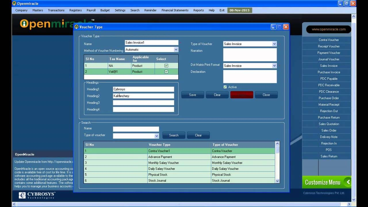 PDC Clearance ReportOpenMiracle Free open source accounting