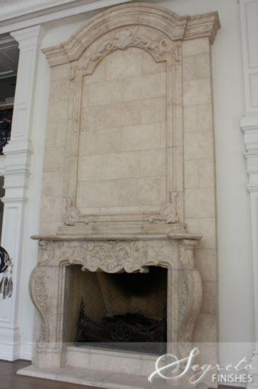 Beautiful Fireplace Mantel By Segreto Finishes Houston Tx Fireplaces Mantels Decorated