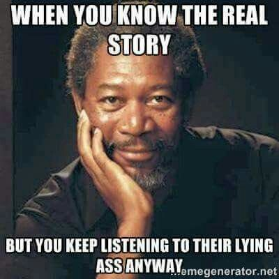 Yup, keep listening to his lies.  You know his oldest is a drug dealer and alcoholic , his middle is a drug addict, he is an alcoholic, a liar, and cheater.  Yet again sleeping with 2 whores with the same initials, vs, each one listening to his lies of love.  He doesn't love either.  He is a messed up human being that lies about his life, trying to look like a poor victim when he is abusive in every way.