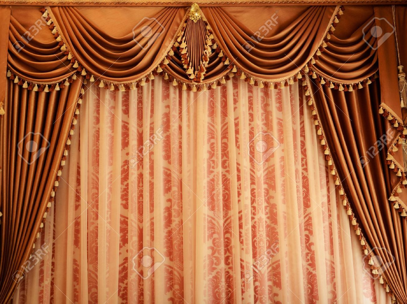 Free coloring pages of stage curtains - Vintage Theater Curtain Arts Drama