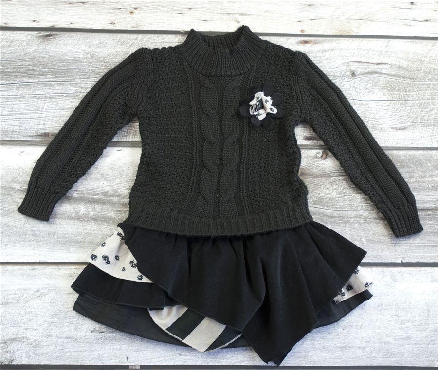 9fe06ec5 Details about NWT ZARA Girls Drop Waist Hooded Knit Sweater ...