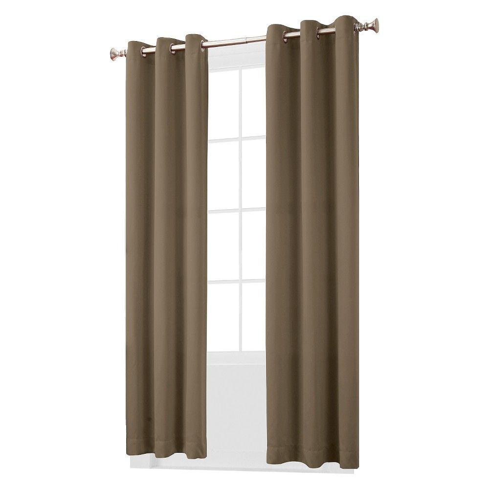 Kenneth Blackout Energy Efficient Grommet Curtain Panel Navy 40 X84 Sun Zero Blue Grommet Curtains Curtains Panel Curtains