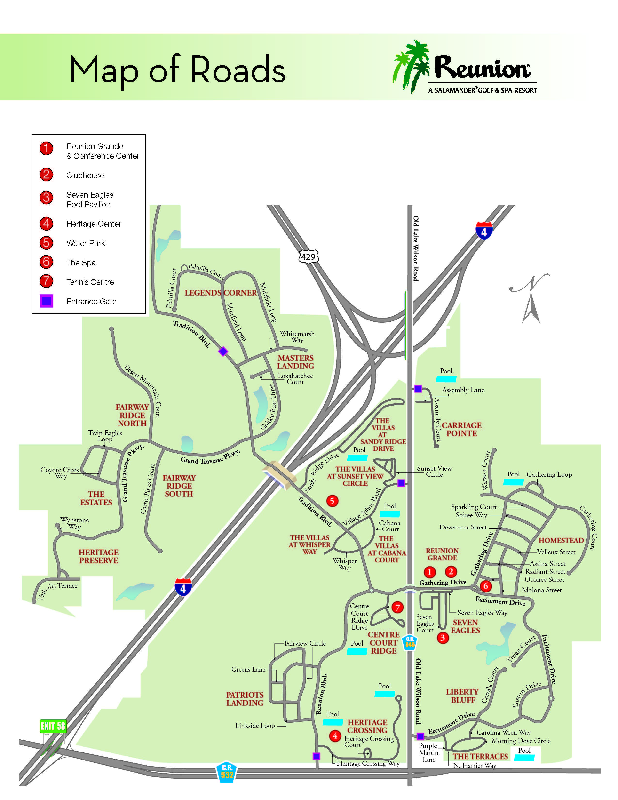 Reunion Resort Map Orlando Vacation | Reunion Resort   Location & Directions |Family  Reunion Resort Map