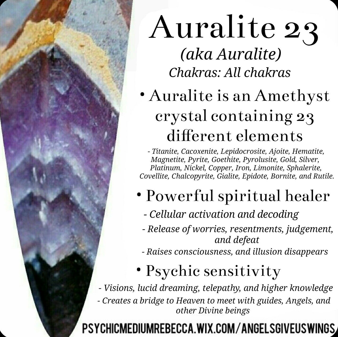 Auralite 23 crystal meaning | Good Energy | Crystals, Crystal