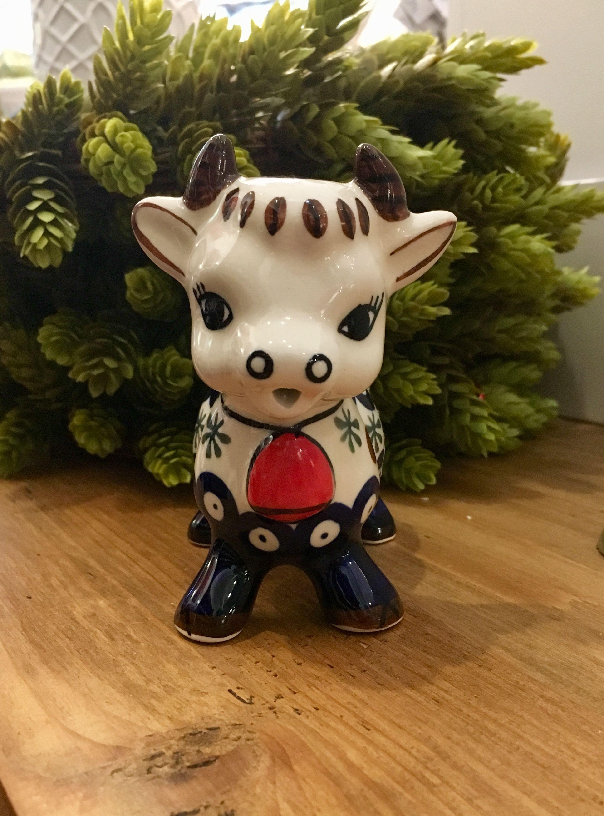 Creamer cow Old Poland Polish pottery, Pottery, Cow