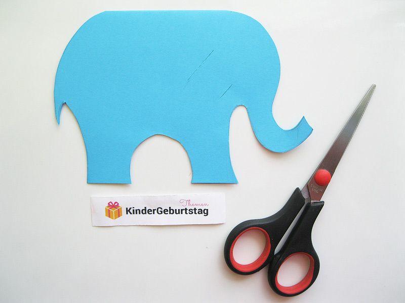 Elefant Basteln Aus Papier Anleitung Und Vorlage Fur Die Kinder Elefant Basteln Basteln Mit Papier Basteln