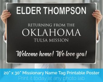 DIGITAL FILE - Giant LDS Missionary Welcome Home Banner ...
