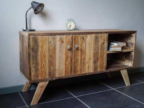 Meuble palette tuto meuble en 2019 meuble bois recycl mobilier de salon et meuble palette - Meuble palette tuto ...