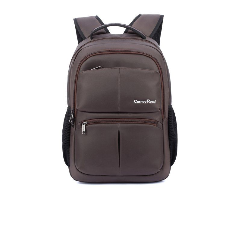 56a3644280ef Solid Maroon Brown Durable Oxford Waterproof Travel Backpack Contracted  Fine Quilted Large School Bag for Men
