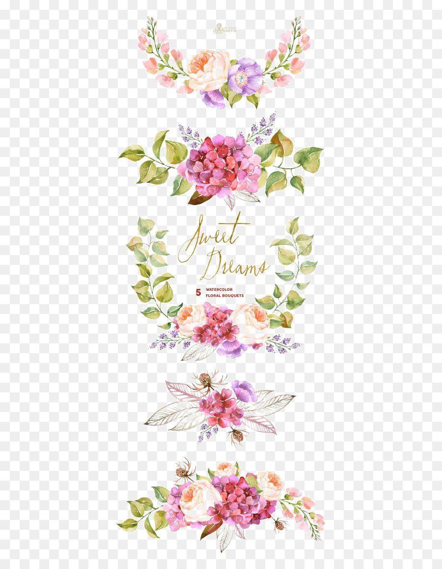 Flower Bouquet Watercolor Painting Wedding Invitation Clip Art Watercolor Flowers Border Kartu Pernikahan Undangan Perkawinan Undangan Pernikahan