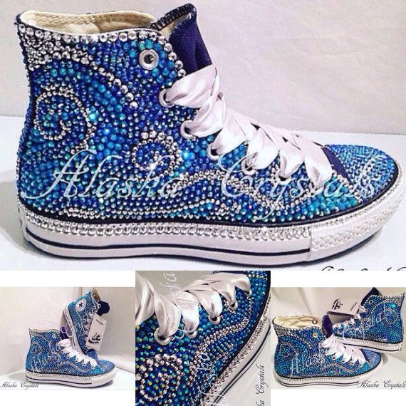 Luxury Converse   wedding converse   bridal converse   prom converse    unique converse   converse rhinestones   customised   bespoke   bling 9ff595f7d3a