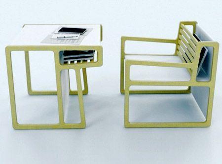 Chaise Transformable En Bureau Par Akin Bacioglu Mobilier Design Mobilier De Salon Meubles A Usages Multiples